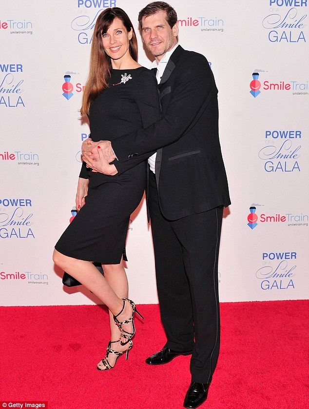 Another power couple: Model Carol Alt was also in attendence with former NHL star Alexei Yashin