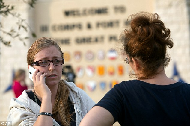 Concern: Military wives try to contact their husbands during the lock down at Fort Hood