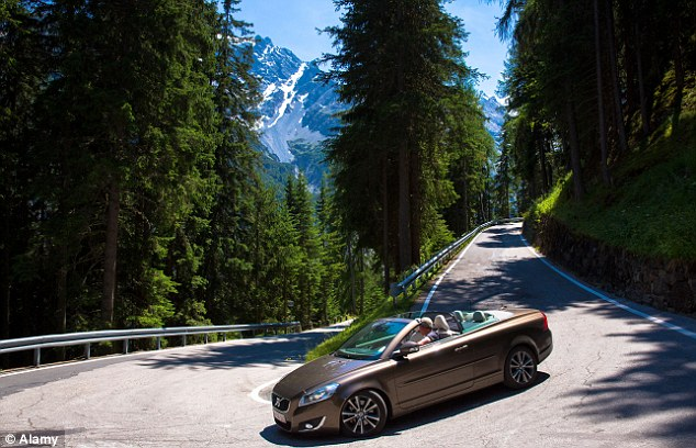 Long way down: Britons worry about driving on high, narrow roads in Italy and have criticised Italian motorists