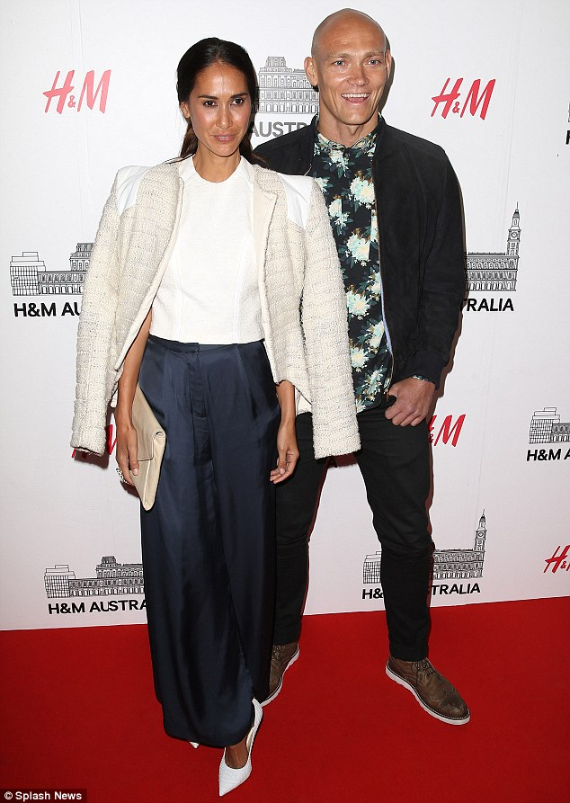 Stylish duo: Lindy and Michael Klim attended the H&M launch party at the GPO building in Melbourne, Australia, earlier this month