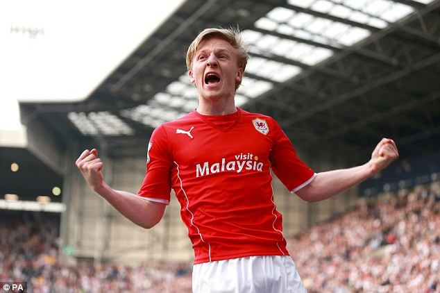 Late drama: Norwegian substitute Mats Daehli rescued a point for Cardiff in a 3-3 draw at West Bromwich last week