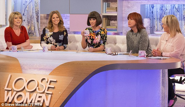 Fab Five: She was joined on the panel by Ruth Langsford, Dawn O'Porter, Janet Street Porter and Linda Robson