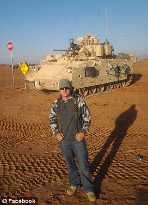 Abroad: Lopez posted a number of photos of his time in the Middle East in 2011