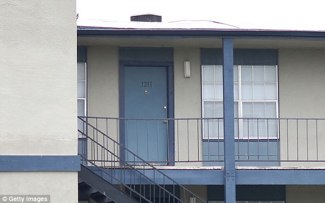 In his home: Lopez and his family had just recently moved to this apartment in Killeen, Texas