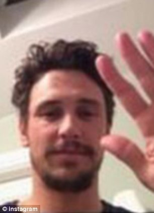 What's going on here?: Schoolgirl Lucy Clode, 17, has claimed James Franco tried to meet up with her in a series of Instagram and text messages