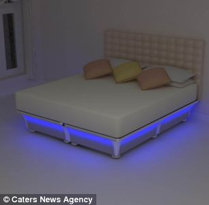 The Balluga bed has an inbuilt temperature control system which can heat or cool varying parts of the bed