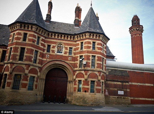 Foster claimed that he had sustained head injuries after falling from a five foot bunk bed inside Strangeways prison (pictured)