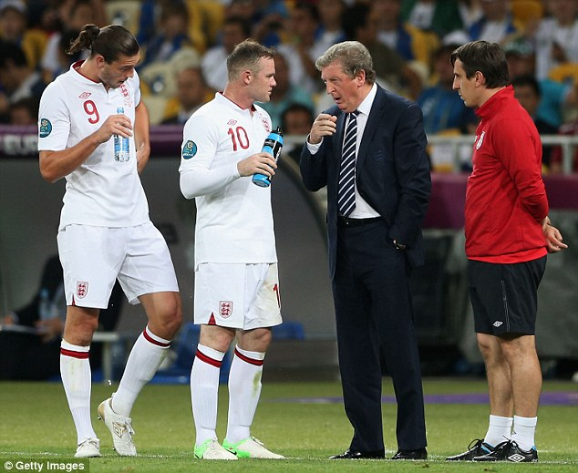 Baptism of fire: Hodgson will lead England against Italy in his opening game of the 2014 World Cup