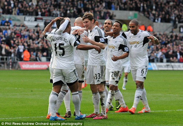 On a roll: Monk has challenged Swansea to go unbeaten for the rest of the season