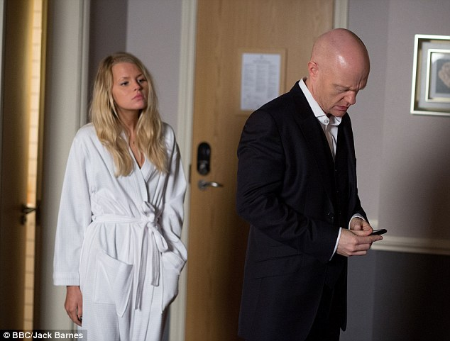 Lauren won't be happy! Lucy left Max's daughter's birthday party before meeting up with him in the hotel room
