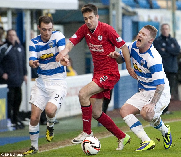Unfit: O'Connor was axed from the side for the midweek win against Dumbarton