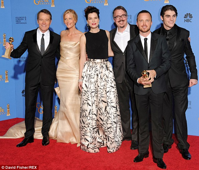 Critically acclaimed: The show won Golden Globes in its final season for Best Television Series - Drama and Best Actor for Cranston