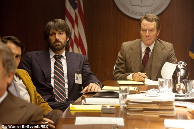 Oscar winning: Cranston had a role in the Ben Affleck directed film Argo as a supervisor in the CIA