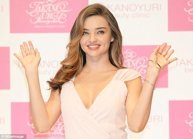 Here she is: Miranda makes an appearance at a promotional event for Yuri Takano at the Hikarie Hall in Tokyo on Thursday
