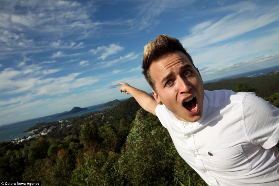 Finding fun: Andrew gets paid $93,000 for the job, which is to show adventurous travellers how exciting the area can be