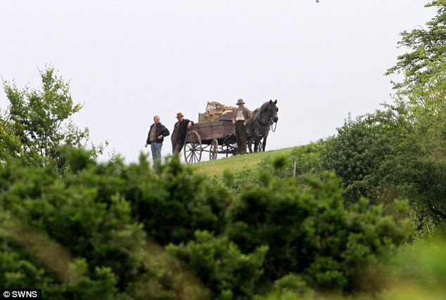 Filming War Horse: Mr Dallyn said it was a 'life-changing amount' but he didn't want to 'blight the landscape'