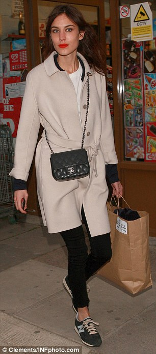 Model behaviour: Alexa Chung was also at the ITV studios in central London on Thursday night