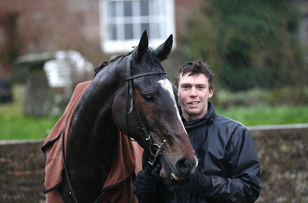 Confident: Trainer Michael Scudamore has high hopes for the Dude