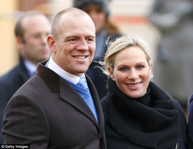 Royal connection: Mike Tindall and wife Zara Phillips, the Queen's grand daughter