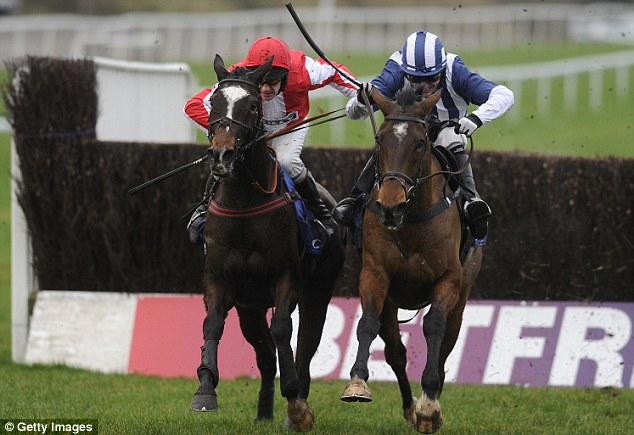 Monbeg Dude (left) got the better of Teforthree to win last year's Welsh National at Chepstow