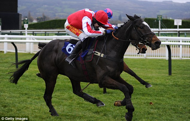 Glory: Monbeg Dude bids for victory in the first £1m Grand National