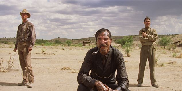 California oil boom: Daniel Day Lewis, pictured centre, starred as a ruthless oilman in There Will Be Blood