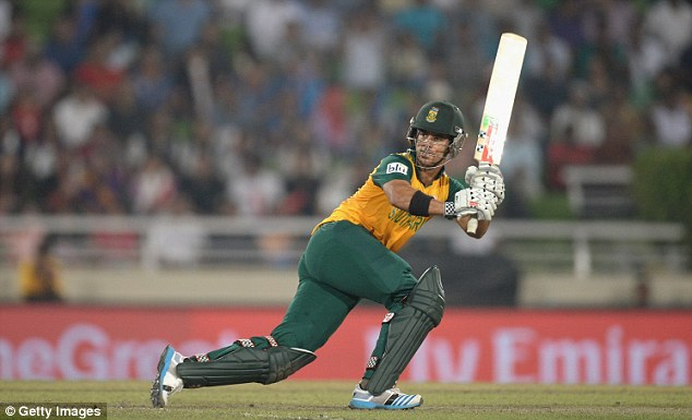 Sweetly struck: JP Duminy plays a legside flick in his timely knock of 45 for South Africa