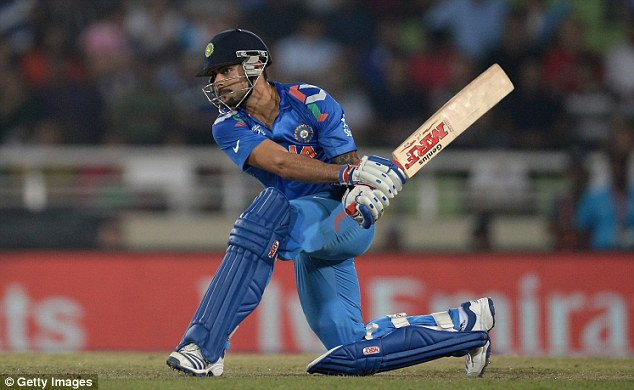 Thwack! Kohli hit 72 not out and saw India home after some wayward late bowling from Wayne Parnell