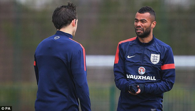 Form: Baines looks to have pipped Ashley Cole (right) by becoming England's No 1 left-back