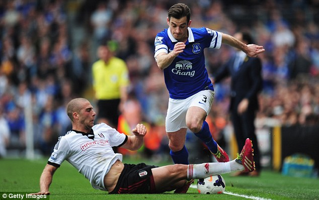 Confident: Martinez is convinced that Baines (right) can 'step up to a new challenge'