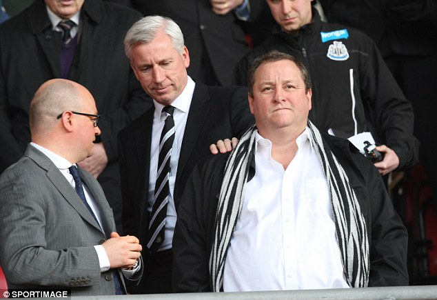 Grounds for complaint: Newcastle fans are also angered by what they see as free advertising at St James' Park