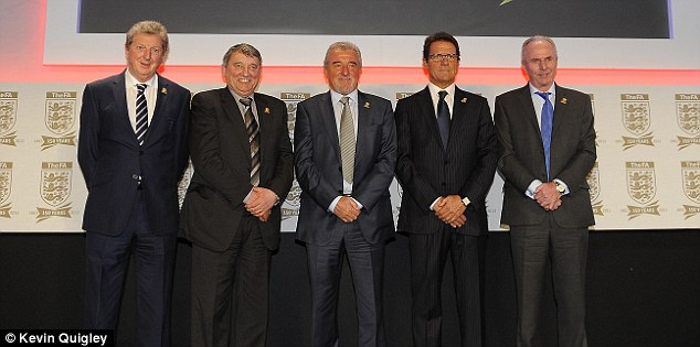 Discharged: Former England boss Graham Taylor (second left) is due to be discharged from hospital after falling