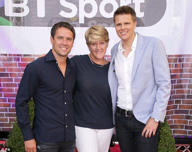 Expert: TV presenter Clare Balding (centre)