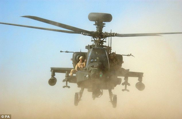 Crucial tool: An Apache helicopter on a rescue mission in Afghanistan. Harry remains qualified as an Apache pilot. He would need only a brief refresher course before being sent back to Camp Bastion for a 12-week stint