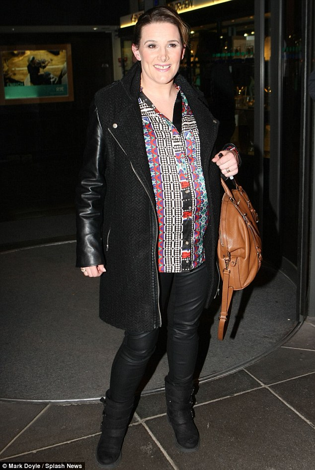 Blooming lovely: Sam Bailey shows off ehr growing baby bump during her current trip to Dublin on Friday