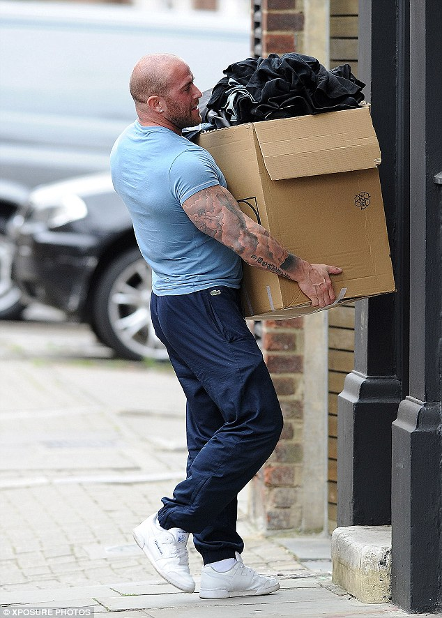 Boxing clever: The removals man certainly had his work cut-out thanks to Jamie
