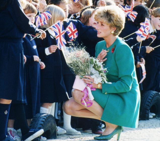 Diana charms children in Korea in 1992, cutting a strikingly similar figure to that of Kate