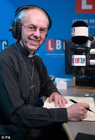 Warning: Archbishop of Canterbury Justin Welby has warned that gay marriage could put Anglicans around the world in danger