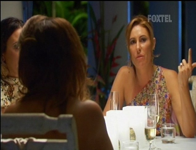 It's war: Andrea Moss didn't back down from telling Gina what she thought of her