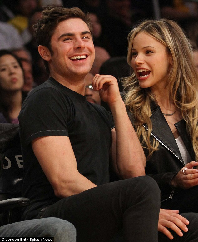 Sparked: The 26-year-old actor and Halston began dating on set of their film Bad Neighbours