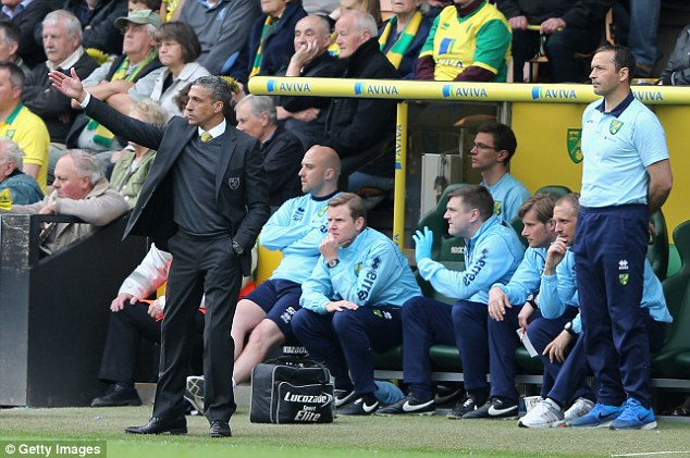 Out the door: Norwich are now just one place ahead of the bottom three