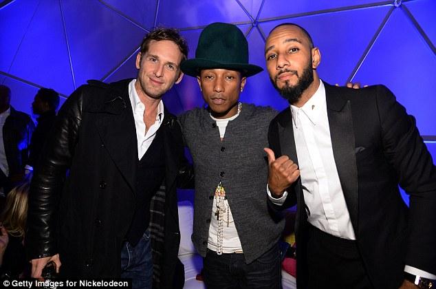 Firm friends: (L-R) Josh Lucas, Pharrell and Swizz Beats pose for a photograph