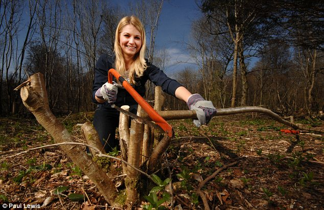 New skills: Melanie Marsh is going on a working holiday with the National Trust