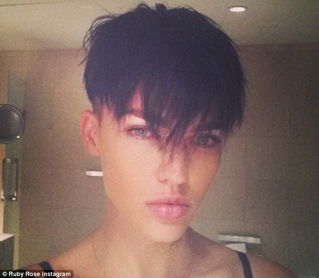 Confessions: Ruby Rose told her Facebook fans on Sunday that she had considered undergoing a female to male transition when she was younger