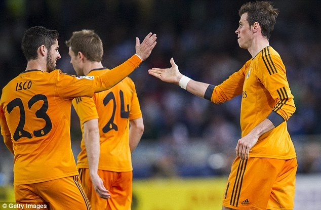 Put it there: Bale returned to the action and scored Real's second soon after