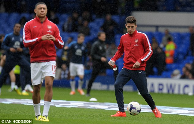 The future? Bellerin will be hoping he can follow Oxlade-Chamberlain's into breaking into the first team
