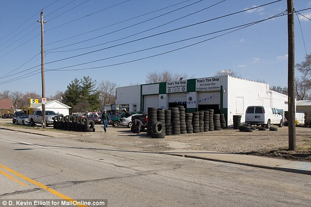 Scene of the crime: Trapuzzano was killed near Tron's Tire Shop on the west side of Indianapolis