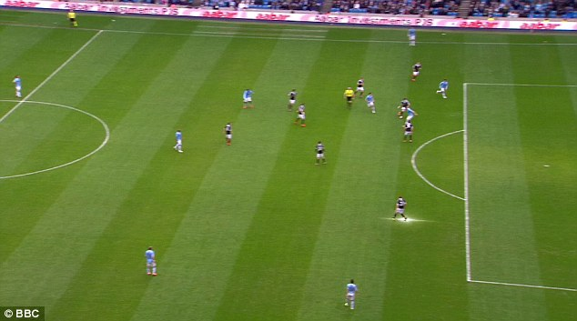 Missed: Silva was several yards offside, but both the linesman and referee failed to notice