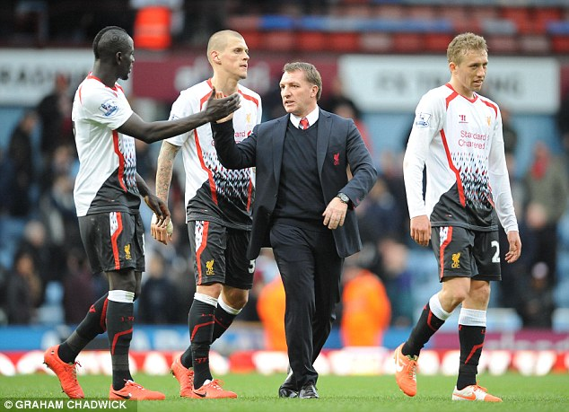Inspired: Liverpool boss Brendan Rodgers says his team are being inspired to the title by those who lost their lives in the Hillsborough disaster