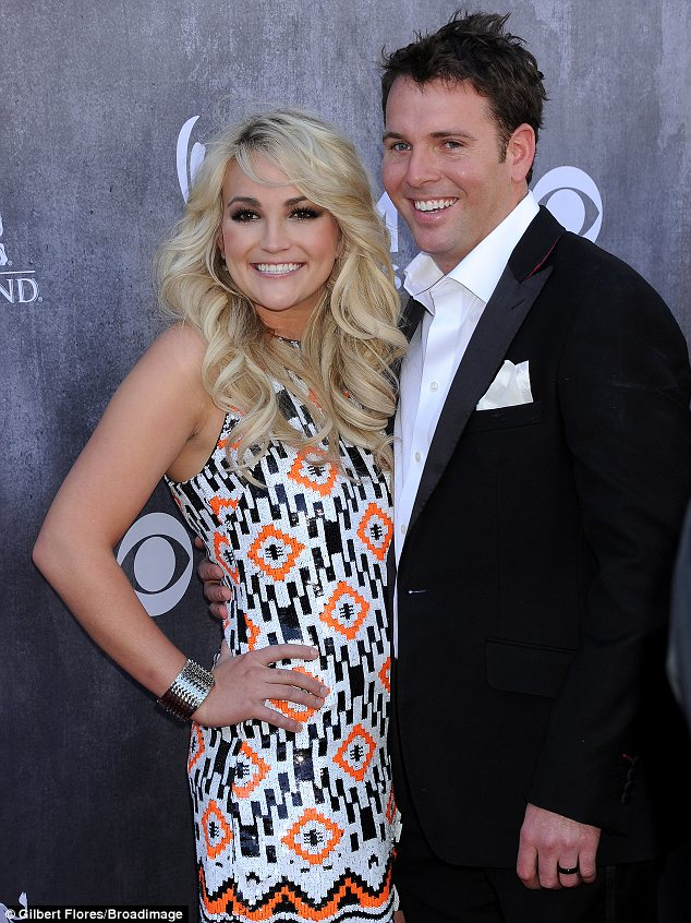 Support: James was on hand to support his new wife on her big night at the ACM awards in Las Vegas